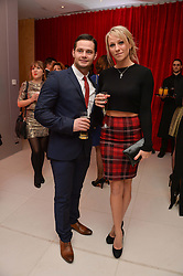 CHLOE MADELEY and DANNY YOUNG at a pre party for the English National Ballet's Christmas performance of The Nutcracker was held at the St.Martin's Lane Hotel, St.Martin's Lane, London on 12th December 2013.