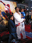 Will Smith with sons.Spider Man Premiere .Mann Village Theatre.Westwood, Los Angeles, CA.April 29, 2002.Photo By Antoine Desert/Celebrityvibe.com..