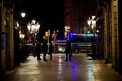 August 17, 2017 - Barcelona, Catalonia, Spain - Police officers patrol Las Ramblas area of Barcelona where there has been a terrorist attack. Thirteen people are dead and at least 50 injured after a van rammed into the crowd of Las Ramblas  street in Barcelona. (Credit Image: © Jordi Boixareu via ZUMA Wire)