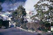 Hokowhitu-a-Tu Memorial Bridge and Maori village, Rotorua, New Zealand 1974 entrance to Te Whakarewarewa Village