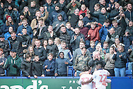 Bolton Wanderers players celebrate opening the scoring in front of their fans. 1-0 during the EFL Sky Bet League 1 match between Bolton Wanderers and Scunthorpe United at the Macron Stadium, Bolton, England on 31 December 2016. Photo by Mark P Doherty.