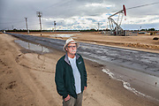 Tom Frantz is a fourth generation farmer and an air quality and anti-fracking activist who acts as a watchdog over the local oil and gas industry activities. Kern County, located over the Monterey Shale, has seen a dramatic increase in oil drilling and hydraulic fracking in recent years. San Joaquin Valley, California, USA
