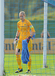 Manchester City Womens' Karen Bardsley in action. - Photo mandatory by-line: Nizaam Jones- Mobile: 07583 387221 - 28/09/2014 - SPORT - Women's Football - Bristol - SGS Wise Campus - BAWFC v Man City Ladies - sport