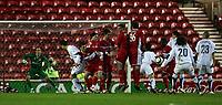 Photo: Jed Wee.<br /> Middlesbrough v FC Basle. UEFA Cup. Quarter-Final. 06/04/2006.<br /> <br /> Middlesbrough defend a Basle freekick.