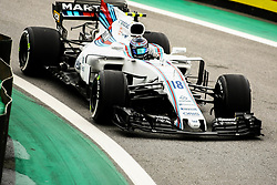 November 11, 2017 - Brazil - SAO PAULO, SP - 11.11.2017: QUALIFYING PARA GP F1 - In the photo the pilot, Lance Stroll, team WILLIAMS, during free practice this morning. Classifying training day on Saturday (11), for the Brazilian Formula 1 Grand Prix, which will take place on Sunday (12) at the Jose Carlos Pace racetrack in Interlagos. (Credit Image: © Fotoarena via ZUMA Press)