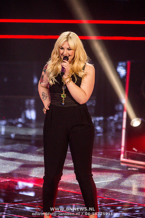NLD/Hilversum/20141219- Finale The Voice of Holland 2014, Emmaly Brown