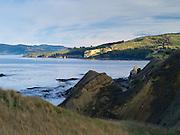 Looking south from the headlands near Karitane, Otago, New Zealand.