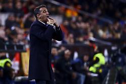 January 26, 2019 - Valencia, Spain - Head coach of Villarreal CF Luis Garcia Plaza during  spanish La Liga match between Valencia CF vs Villarreal CF at Mestalla Stadium on Jaunary  26, 2019. (Credit Image: © Jose Miguel Fernandez/NurPhoto via ZUMA Press)
