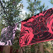 Colorful Day of the Dead Dog Flags