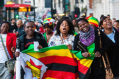 2014-11-15 Zimbabweans deliver petition against lifting of sanctions to Downing Street