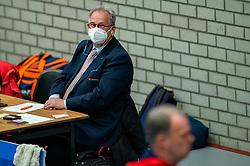 Joep van Iersel in action during the quarter cupfinal between Taurus vs. Sliedrecht Sport on April 02, 2021 in sports hall De Kruisboog, Houten