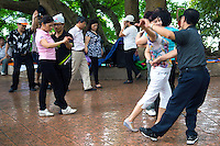 Dancing at Hoan Kiem Lake - Hoan Kiem Lake is in the historical center of Hanoi and serves as a focal point for the city's public life.  Mornings are popular at the lake with the locals for its misty air for morning exercises, tai chi, badminton and even dancing!