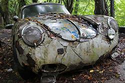 20.01.2016, Autofriedhof, Mettmann, GER, Mettmann Autofriedhof, im Bild Alter Porsche verwittert auf einem Autofriedhof // cars on a weather on a car graveyard Autofriedhof in Mettmann, Germany on 2016/01/20. EXPA Pictures © 2016, PhotoCredit: EXPA/ Eibner-Pressefoto/ Deutzmann<br /> <br /> *****ATTENTION - OUT of GER*****