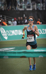 10062018 (Durban)<br /> South Africa's Ann Ashworth won the women's race with a time of 6:10:04. Last year, Camille Herron from the US won the women's edition of Copmrades Marathon.<br /> Picture: Motshwari Mofokeng/ANA