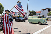 Corona Virus Protest Rally on Del Mar in San Clemente