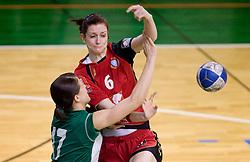 Ana Gros of Krim at handball Slovenian cup Finals match  between RK Olimpija and RK Krim Mercator, on March 28, 2010, SD Leon Stukelj, Novo mesto, Slovenia. (Photo by Vid Ponikvar / Sportida)