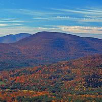 Hiking in the Catskills in the fall Woodstock New York
