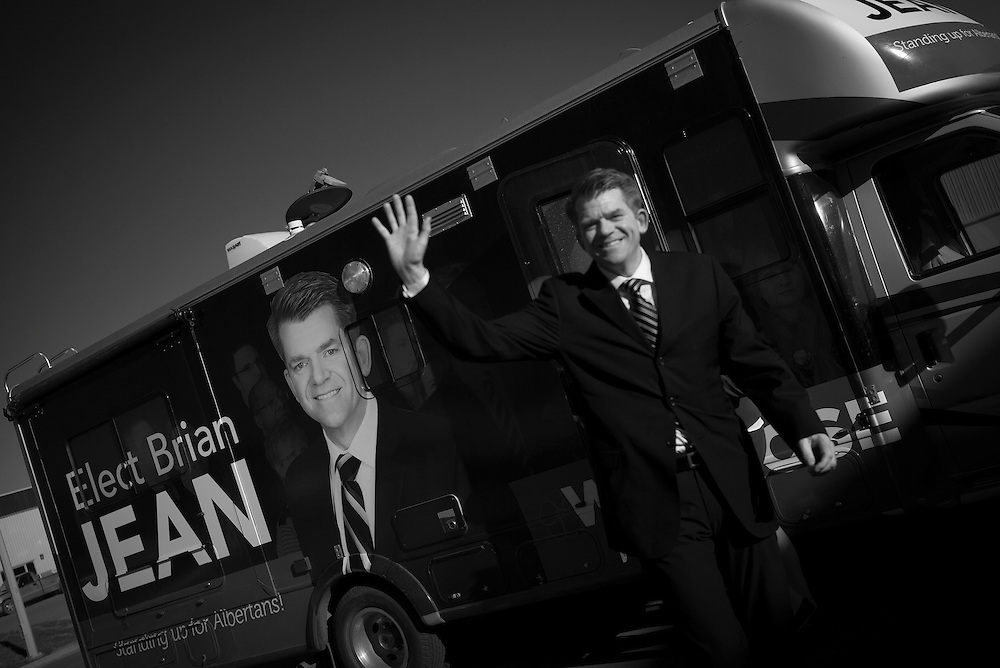 Wildrose leader Brian Jean in Airdrie, Alberta, April 15, 2015. Photograph by Todd Korol