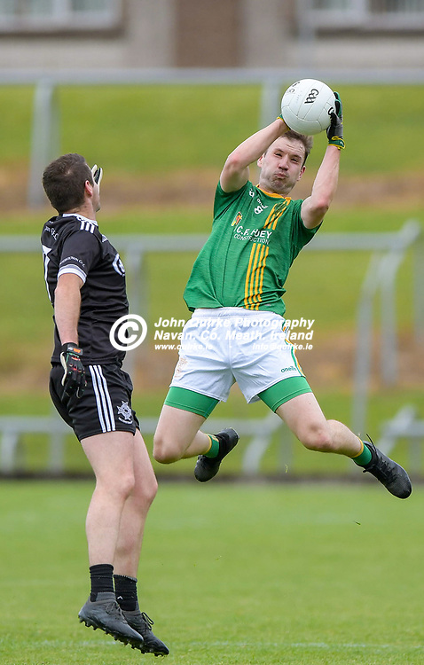 Shane Hoey of Castletown catches a high ball,    in the Castletown v Walterstown, 2020 Corn na Boinne Final match, at Pairc Tailteann, Navan.<br /> <br /> Photo: GERRY SHANAHAN-WWW.QUIRKE.IE<br /> <br /> 02-08-2021