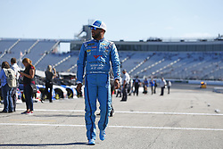 July 20, 2018 - Loudon, New Hampshire, United States of America - Darrell Wallace, Jr (43) prepares to take to the track to qualify for the Foxwoods Resort Casino 301 at New Hampshire Motor Speedway in Loudon, New Hampshire. (Credit Image: © Justin R. Noe Asp Inc/ASP via ZUMA Wire)