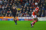 Jimmy Dunne of Sunderland (30) passes the ball during the EFL Sky Bet League 1 match between Barnsley and Sunderland at Oakwell, Barnsley, England on 12 March 2019.