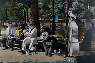 NYC in Colors.  Horn/Andersen<br /> Jamming in the park	    60x90	Kr.     5.000,-<br /> Foto: © Lars Horn / Baghuset<br /> Date : 15.07.13