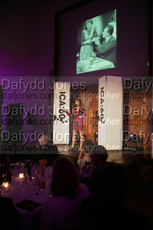 Kathy Lette,  ICA 60: PECHA KUCHA. Fundraiser for the Institute of Contemporary Arts. Florence Hall, RIBA, 66 Portland Place, London. 17 May 2007. -DO NOT ARCHIVE-© Copyright Photograph by Dafydd Jones. 248 Clapham Rd. London SW9 0PZ. Tel 0207 820 0771. www.dafjones.com.