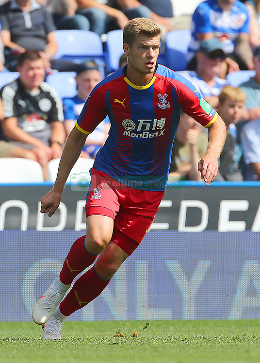 """Crystal Palaces Alexander Sorloth during the pre-season friendly match at the Madejski Stadium, Reading. PRESS ASSOCIATION Photo. Picture date: Saturday July 28, 2018. See PA story SOCCER Reading. Photo credit should read: Mark Kerton/PA Wire. RESTRICTIONS: EDITORIAL USE ONLY No use with unauthorised audio, video, data, fixture lists, club/league logos or """"live"""" services. Online in-match use limited to 75 images, no video emulation. No use in betting, games or single club/league/player publications."""