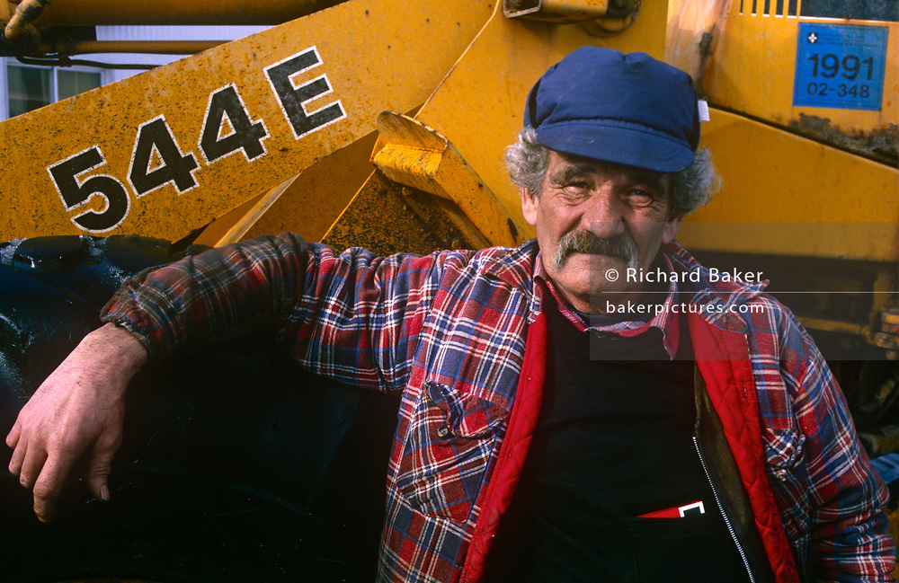 A portrait of a tough-looking local authority worker whose winter job is snow removal, on 11th January 1999, in Quebec City, Quebec, Canada.