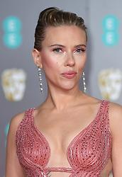 Scarlett Johansson attending the 73rd British Academy Film Awards held at the Royal Albert Hall, London. Photo credit should read: Doug Peters/EMPICS Entertainment