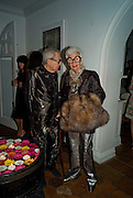 CARL APFEL; IRIS APFEL, Party hosted by Franca Sozzani and Remo Ruffini in honour of Bruce Weber to celebrate L'Uomo Vogue The Miami issuel by Bruce Weber. Casa Tua. James Avenue. Miami Beach. 5 December 2008 *** Local Caption *** -DO NOT ARCHIVE-© Copyright Photograph by Dafydd Jones. 248 Clapham Rd. London SW9 0PZ. Tel 0207 820 0771. www.dafjones.com.