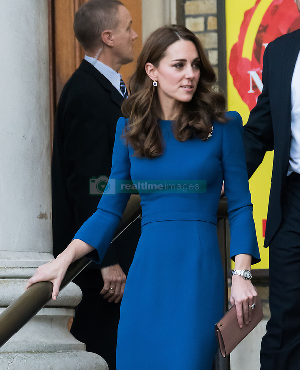 October 31, 2018 - London, London, United Kingdom - Catherine Duchess of Cambridge visits the Imperial War Museum. Ahead of Armistice Day, The Duchess of Cambridge visits IWM London to view letters relating to the three brothers of her great-grandmother, all of whom fought and died in the First World War. The letters and documents provide a fascinating and poignant account of life and death in the trenches. The letters are part of IWM's Documents Archive, which provides a means to research, reflect and remember the extraordinary contribution and sacrifice made by so families during the First World War. (Credit Image: © Nils Jorgensen/i-Images via ZUMA Press)