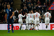Goal, Trent Alexander-Arnold of England scores, England 2-0 USA during the International Friendly match between England and USA at Wembley Stadium, London, England on 15 November 2018.