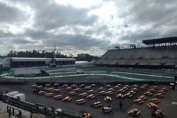 October 25, 2017 - EUM20171025DEP10.JPG.CIUDAD DE MÉXICO RacesCarreras-GP México.- Aspectos generales de la zona del Foro Sol del Autódromo Hermanos Rodríguez. La pista se aprecia en óptimas condiciones a dos días de que inicie el Gran Premio de México, 25 de octubre de 2017. Foto: Agencia EL UNIVERSALRenzo ChiquitoMAVC (Credit Image: © El Universal via ZUMA Wire)