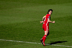 BIRKENHEAD, ENGLAND - Easter Sunday, April 4, 2021: Liverpool's captain Niamh Fahey during the FA Women's Championship game between Liverpool FC Women and Lewes FC Women at Prenton Park. (Pic by David Rawcliffe/Propaganda)