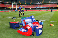 The Wales rugby team take part in public training session at the Millennium Stadium in Cardiff on Friday 29th Oct 2010.