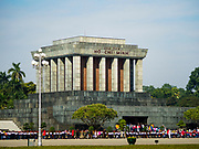 21 DECEMBER 2017 - HANOI, VIETNAM: Ho Chi Minh's Mausoleum in Hanoi is always crowded with tourists and Vietnamese people who pay homage to Vietnam's national hero.   PHOTO BY JACK KURTZ