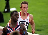 Friidrett , 7. juli 2006 , Gøteborg , EM , Europamesterskapet ,<br /> Athletics , European  Championship <br /> Martin Rypdal bak Dwain Chambers