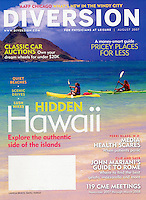 Diversion Magazine cover-Oahu, Hawaii USA
