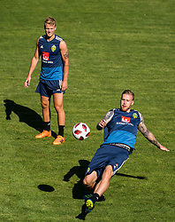 July 4, 2018 - Gelendzhik, Russia - 180704 Pontus Jansson and Oscar Hiljemark of the Swedish national football team at a practice session during the FIFA World Cup on July 4, 2018 in Gelendzhik..Photo: Petter Arvidson / BILDBYRN / kod PA / 92081 (Credit Image: © Petter Arvidson/Bildbyran via ZUMA Press)
