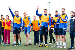 Bristol Rovers' Ability Group visit the first team training ground to meet the players and train with them as part of the EFL Community Day of Action - Rogan/JMP - 20/03/2018 - FOOTBALL - The Lawns Training Ground - Bristol, England.