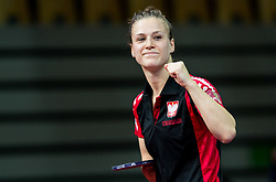 Partyka Natalia of Poland celebrates after winning at final match during Day 4 of SPINT 2018 - World Para Table Tennis Championships, on October 20, 2018, in Arena Zlatorog, Celje, Slovenia. Photo by Vid Ponikvar / Sportida