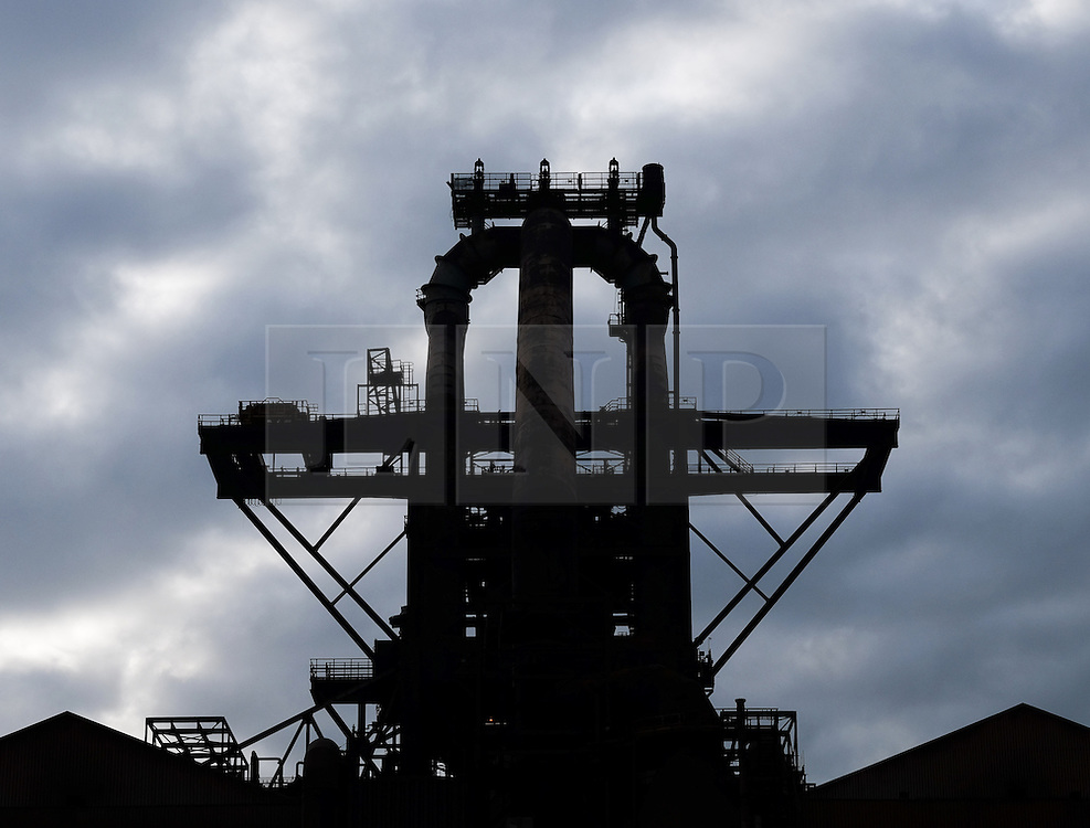 © Licensed to London News Pictures.20/10/15<br /> Redcar, UK. <br /> <br /> The recently closed SSI UK steel blast furnace in Redcar, England. The closure of the site marks the end of 170 years of steel making heritage on Teesside and was the first of a number of recent closures of steel making plants across the UK.<br /> <br /> Photo credit : Ian Forsyth/LNP