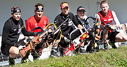 04.10.2010, Biathlon Zentrum, Hochfilzen, AUT, OESV Biathlon Medientag, im Bild Daniel Mesotitsch, OESV, Biathlet, Friedrich Pinter, OESV, Biathlet, Christoph Sumann, OESV, Biathlet, Dominik Landertinger, OESV, Biathlet, Simon Eder, OESV, Biathlet, EXPA Pictures © 2010, PhotoCredit: EXPA/ J. Feichter