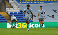 Blackburn Rovers' Dominic Samuel and Stewart Downing look dejected after cardiff's goal <br /> <br /> Photographer Ian Cook/CameraSport<br /> <br /> The EFL Sky Bet Championship - Cardiff City v Blackburn Rovers - Tuesday 7th July 2020 - Cardiff City Stadium - Cardiff <br /> <br /> World Copyright © 2020 CameraSport. All rights reserved. 43 Linden Ave. Countesthorpe. Leicester. England. LE8 5PG - Tel: +44 (0) 116 277 4147 - admin@camerasport.com - www.camerasport.com