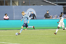 March 11, 2018 - New York, New York, United States - Anton Tinnerholm (3) of NYC FC controls ball during regular MLS game against LA Galaxy at Yankee stadium NYC FC won 2 - 1 (Credit Image: © Lev Radin/Pacific Press via ZUMA Wire)
