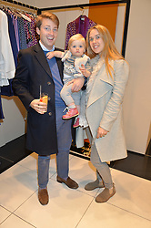 CHARLIE & JESSICA HENDERSON and their daughter FARLEY HENDERSON at a party to celebrate the launch of Olivia von Halle, 151 Sloane Street, London on 25thNovember 2015