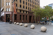 Martin Place in Sydney's Central Business District is very empty as a result of the Coronavirus Outbreak, with very few office workers around, Sydney, Australia.
