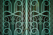 Detail of a wrought iron gate at the Fine Arts Museum<br /> in Ho Chi Minh City, Vietnam Southeast Asia