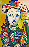 France, Paris (75), Musee Picasso, Jeune fille assise, 1970 // France, Paris, Picasso museum, Seated girl, 1970